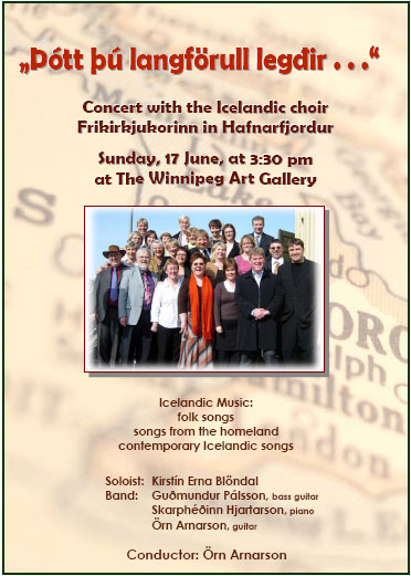 Concert with the Icelandic Choir Frikirkjukorinn