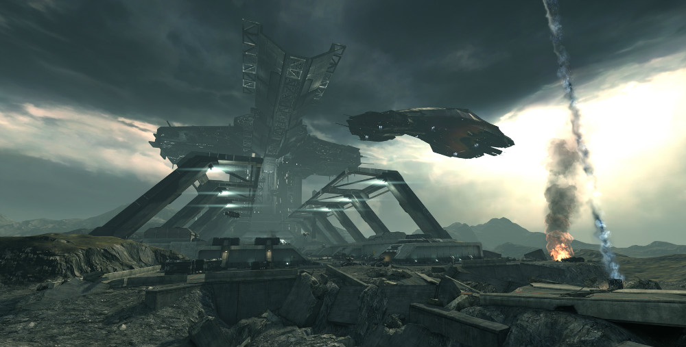Screenshot from Dust 514, developed by CCP Games.