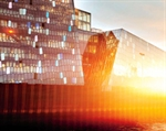 Inauguration of Harpa and the official lighting of the glass facade