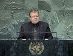 Minister Skarphéðinsson addresses the UN General Assembly